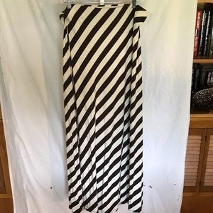 Tommy Bahama brown striped maxi skirt